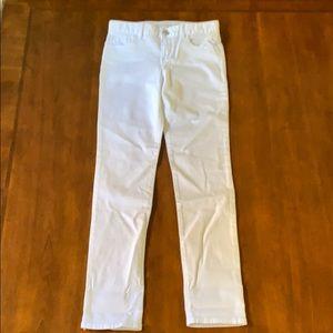 GAP Girls White Super Skinny Jeans Size 10